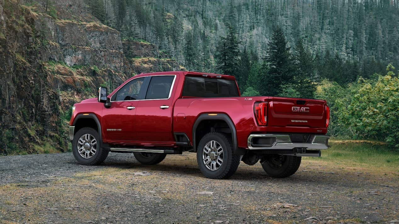 2020 GMC Sierra HD SLT parked in forest