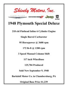 PlymouthSpecialSpecs