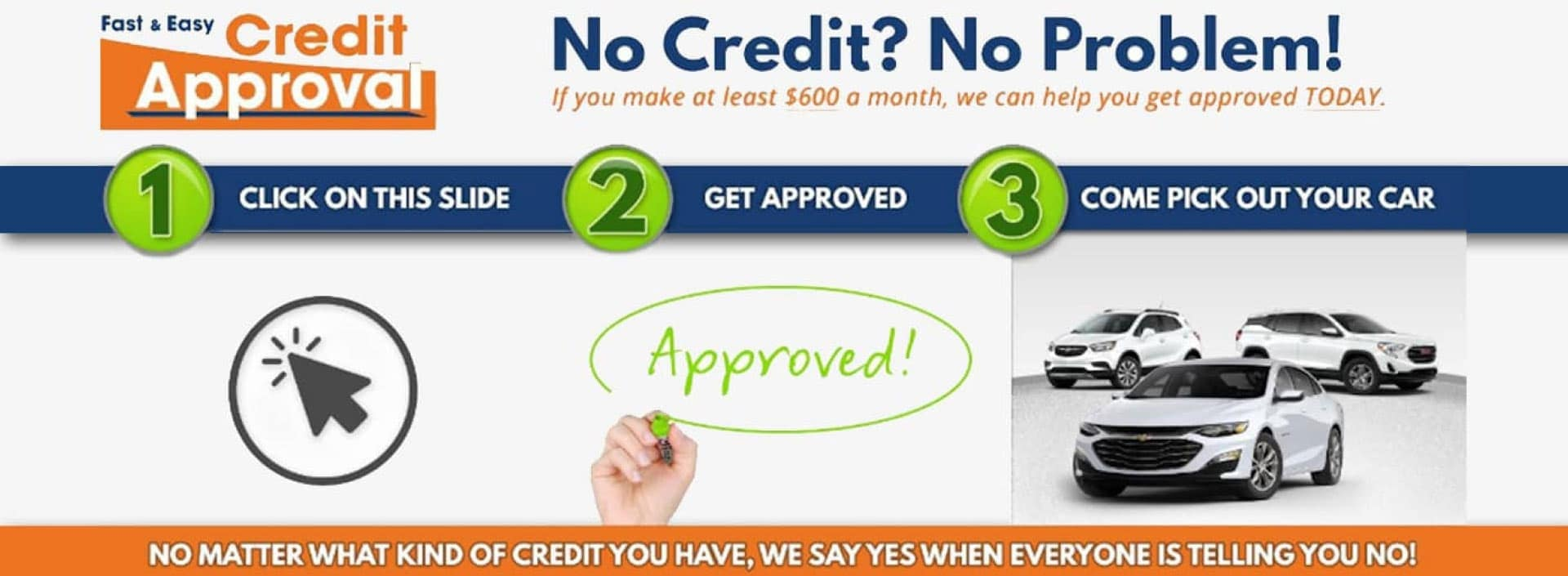 Fast & Easy Credit Approval Banner