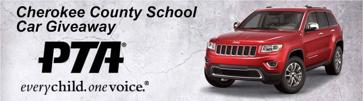 Cherokee County School Car Giveaway Banner