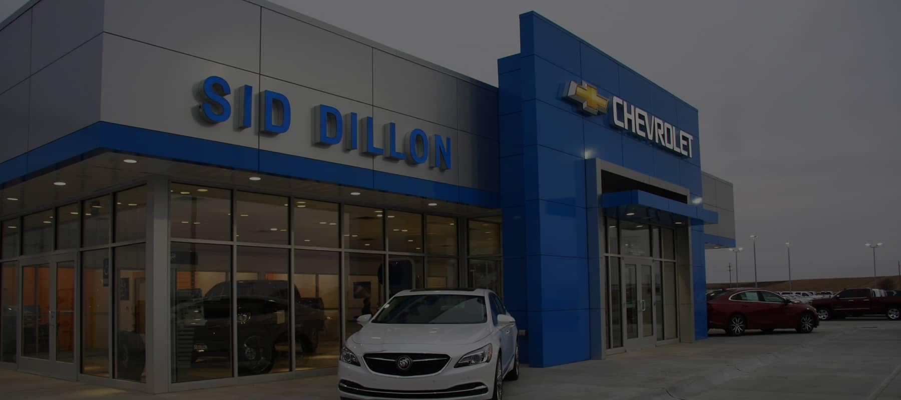An exterior shot of the dealership building.