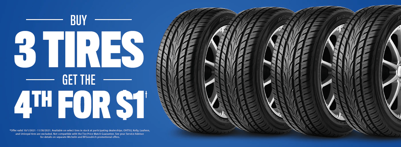 midway motors buy 3 tires get 4th tire for dollar