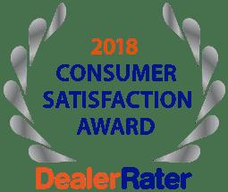 2018 Dealerrater Customer Satisfaction Award