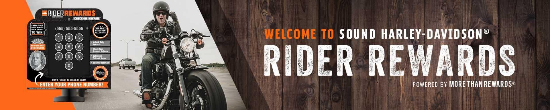 Sound Harley-Davidson Rider Rewards banner
