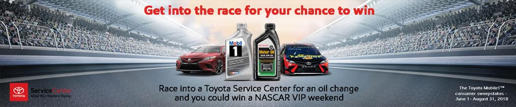 Get into the race. Win a NASCAR VIP weekend!
