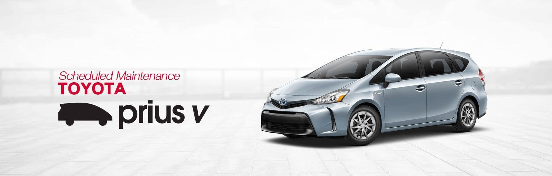Toyota Prius v Scheduled Maintenance