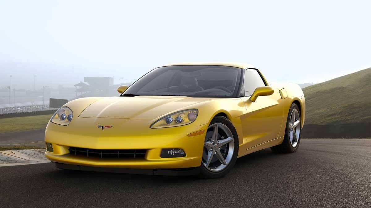 2020 yellow corvette