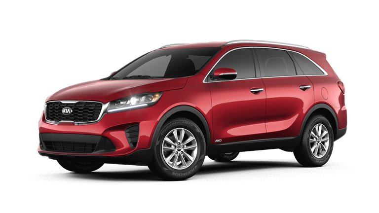 2019 Kia Sorento in red