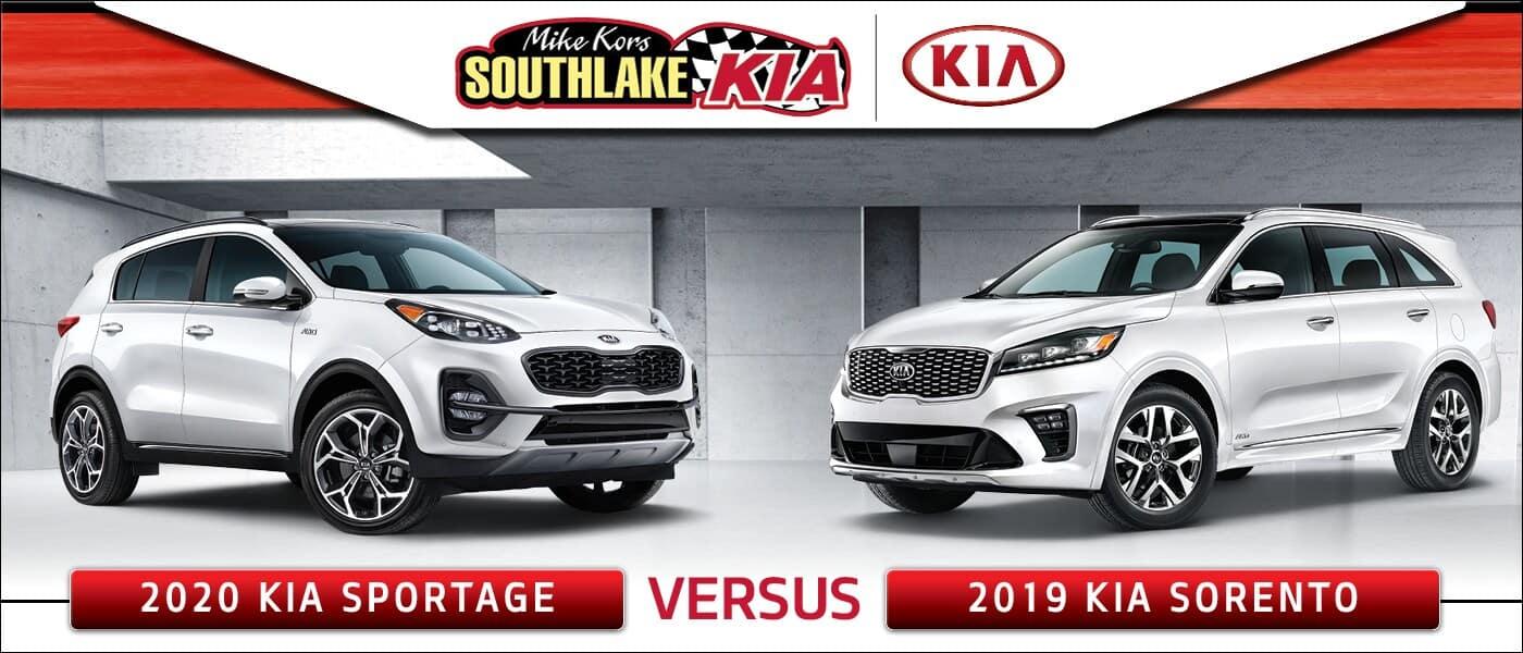 2020 Kia Sportage vs. 2019 Kia Sorento