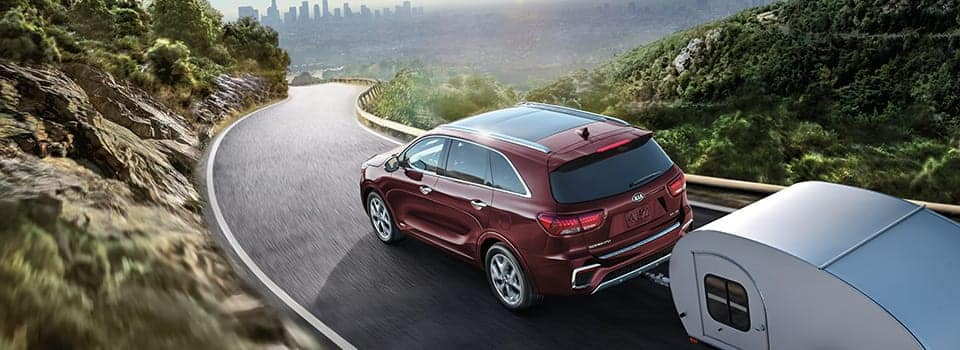 2019 Kia Sorento driving on street