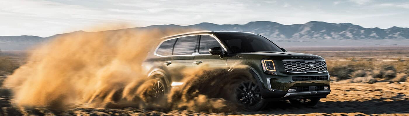 2020 Kia Telluride driving in sand