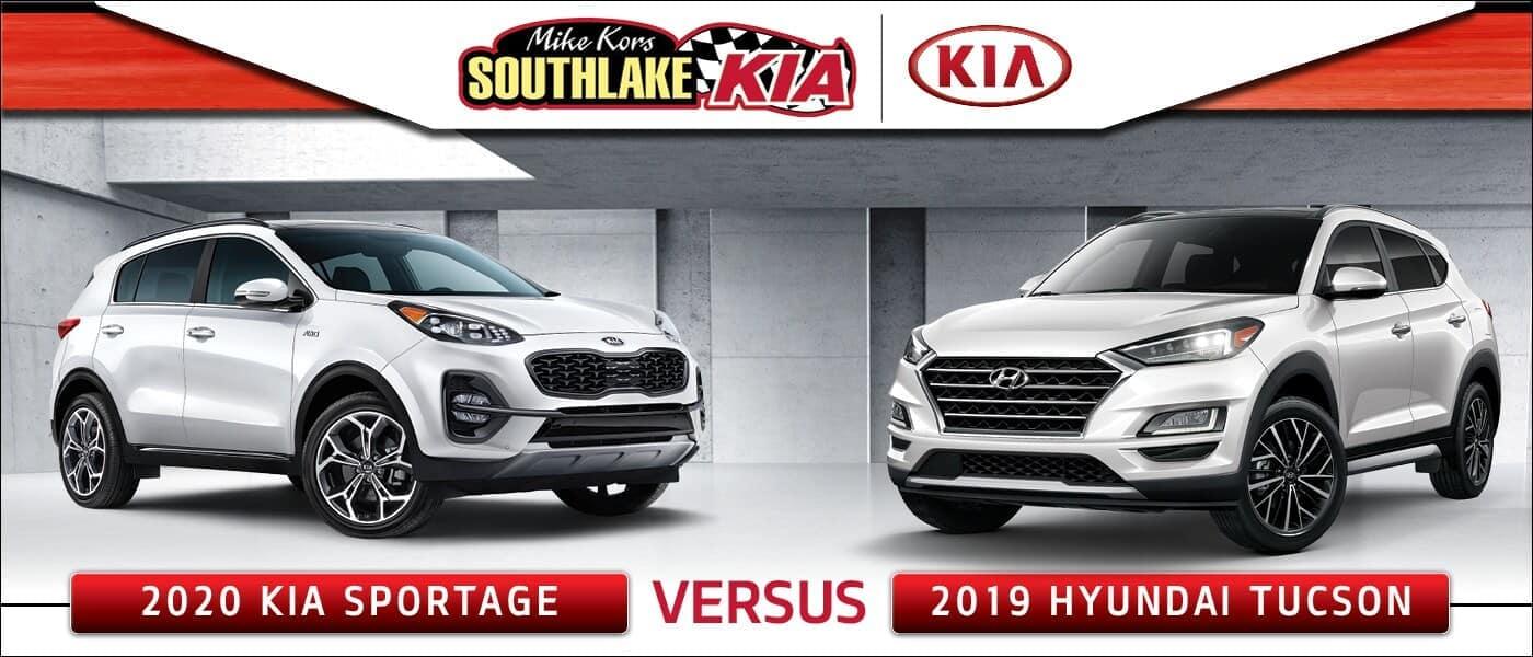 2020 Kia Sportage vs. 2019 Hyundai Tucson