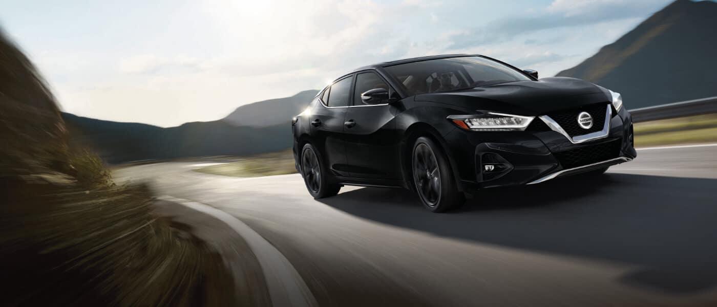 Black 2019 Nissan Maxima on road