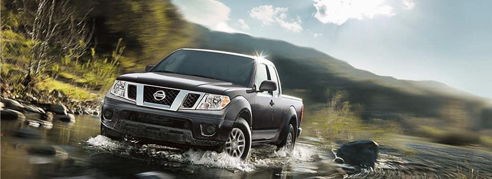 2019 Nissan Frontier driving in water