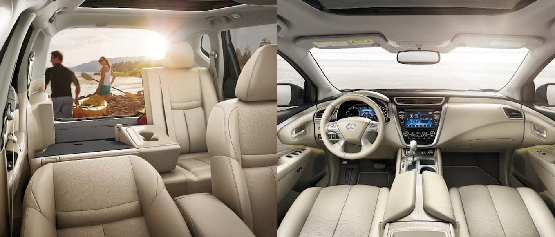 2019 Nissan Rogue vs. Murano interior