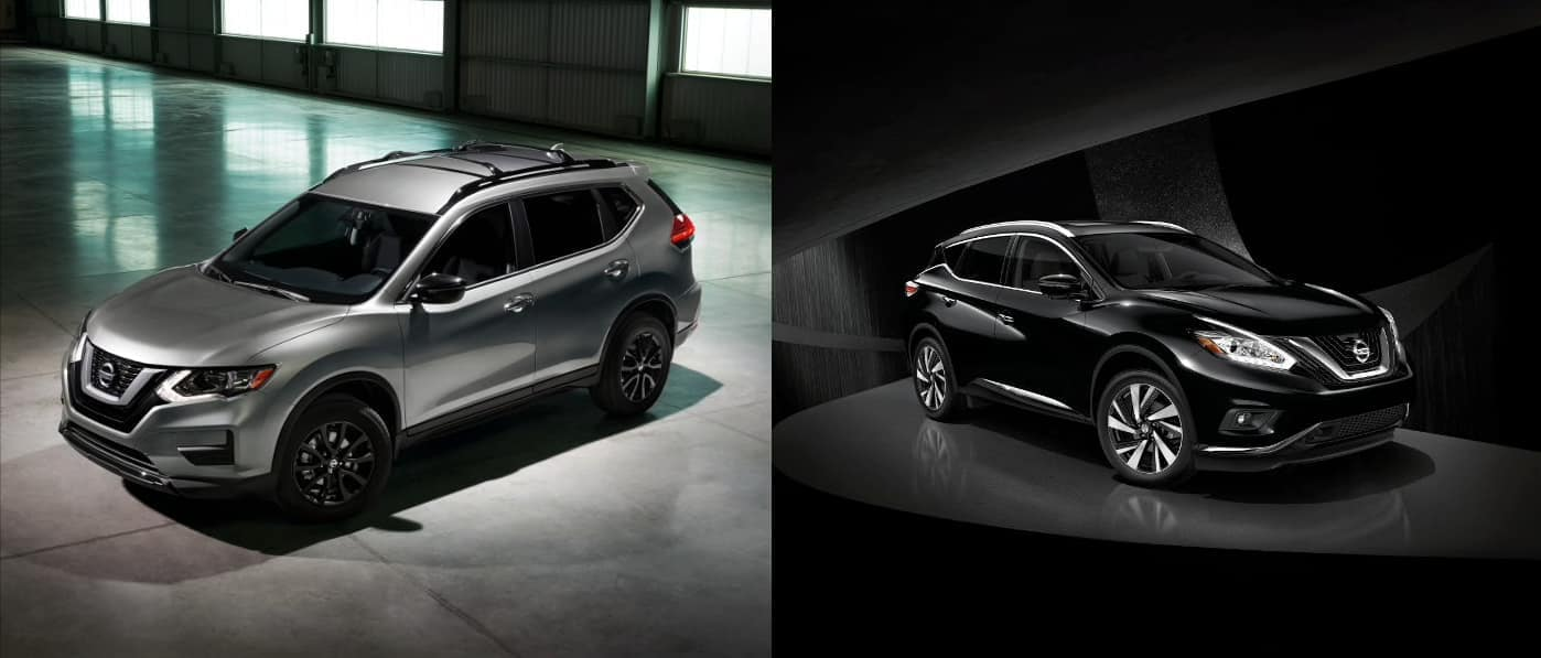 2019 Nissan Rogue vs. Murano exterior