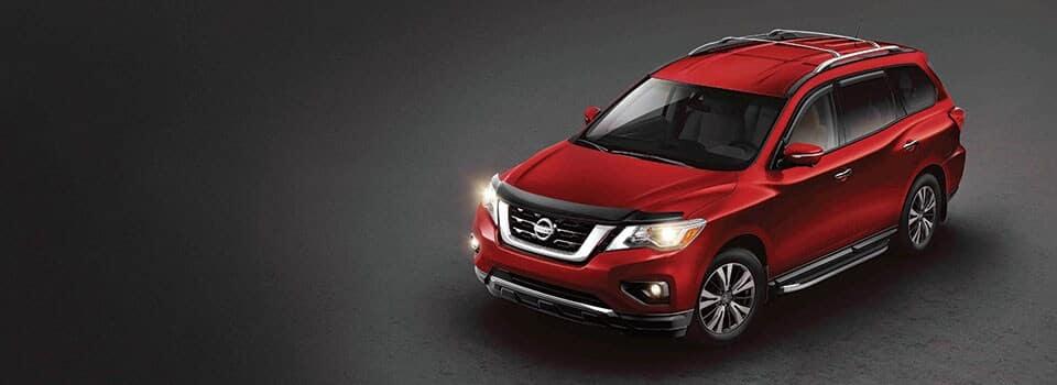 Red 2019 Nissan Pathfinder