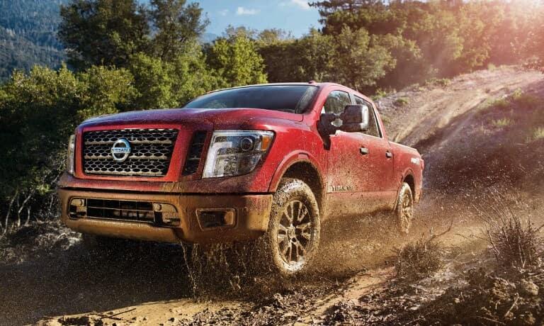 2019 Nissan Titan on dirt path