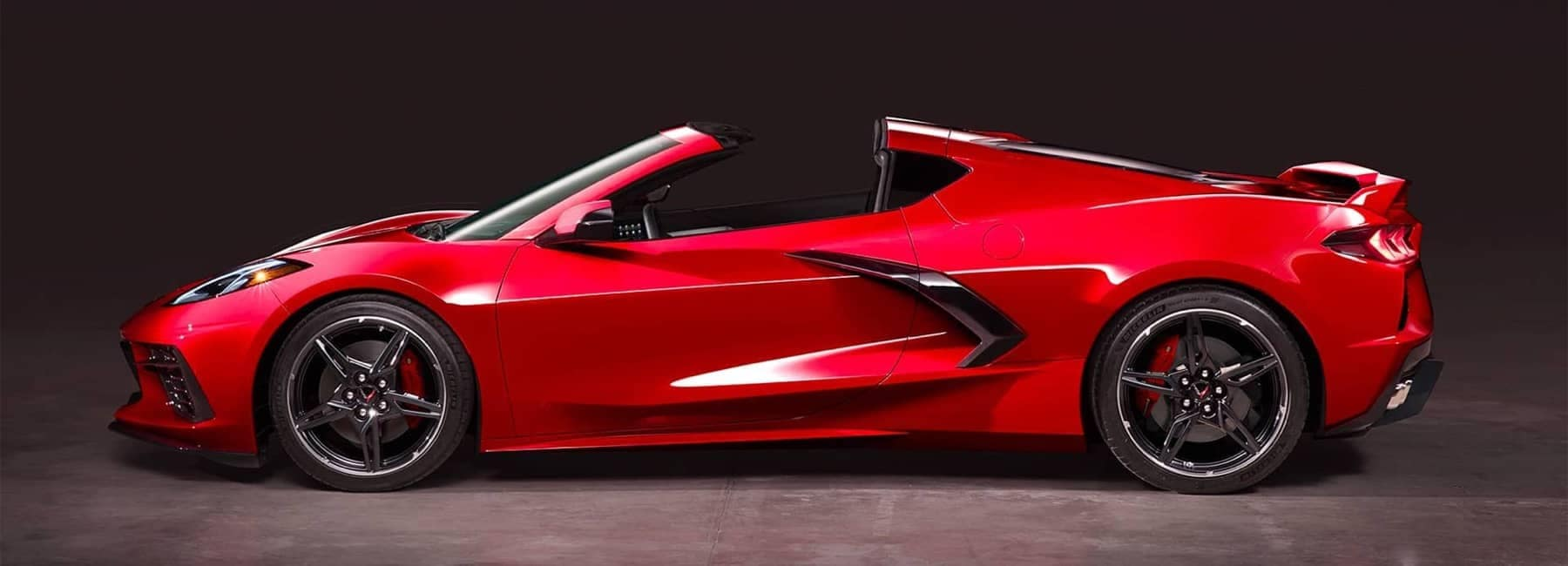 2020 Chevrolet Corvette Mid-Engine Sports Car Convertible profile view