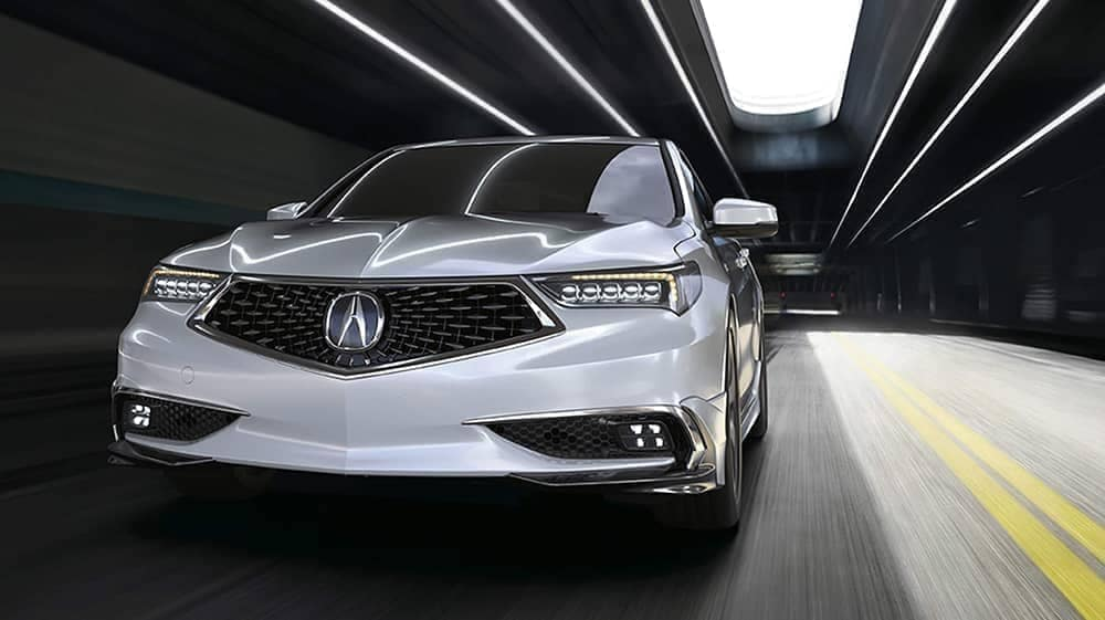 2020-Acura TLX driving through a tunnel