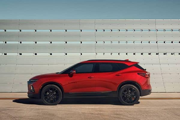 Red 2020 Chevrolet Blazer Sideview_mobile
