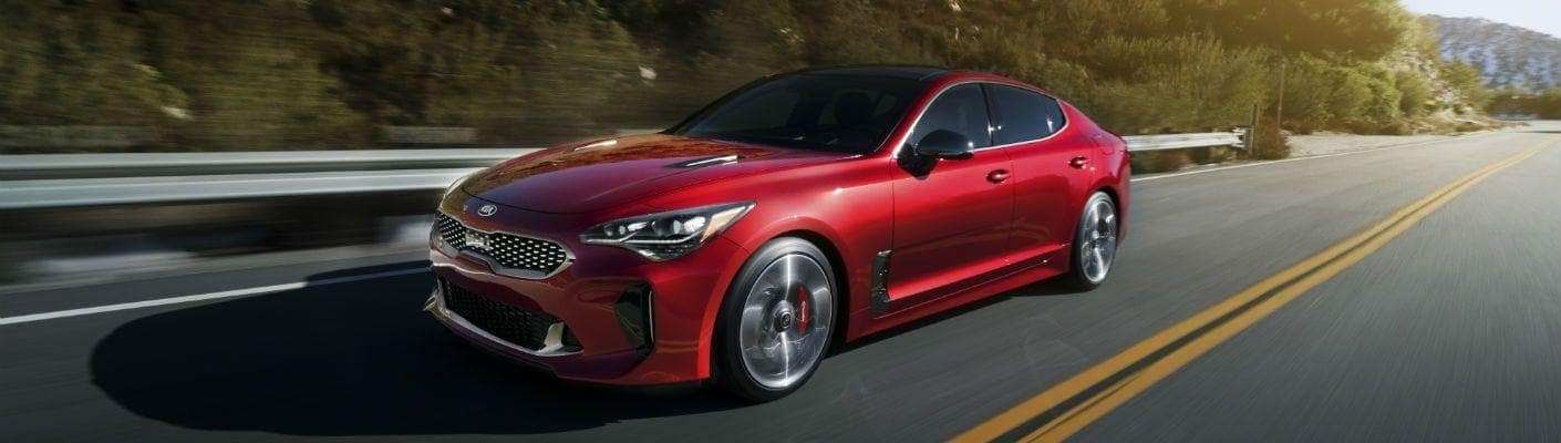2018 Kia Stinger GT red vehicle driving