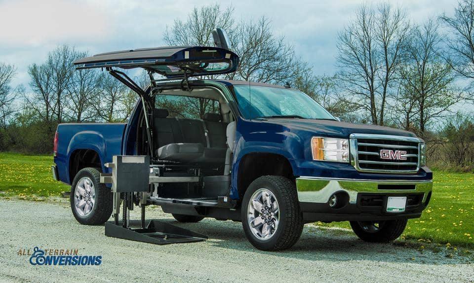 wheelchair lift in truck
