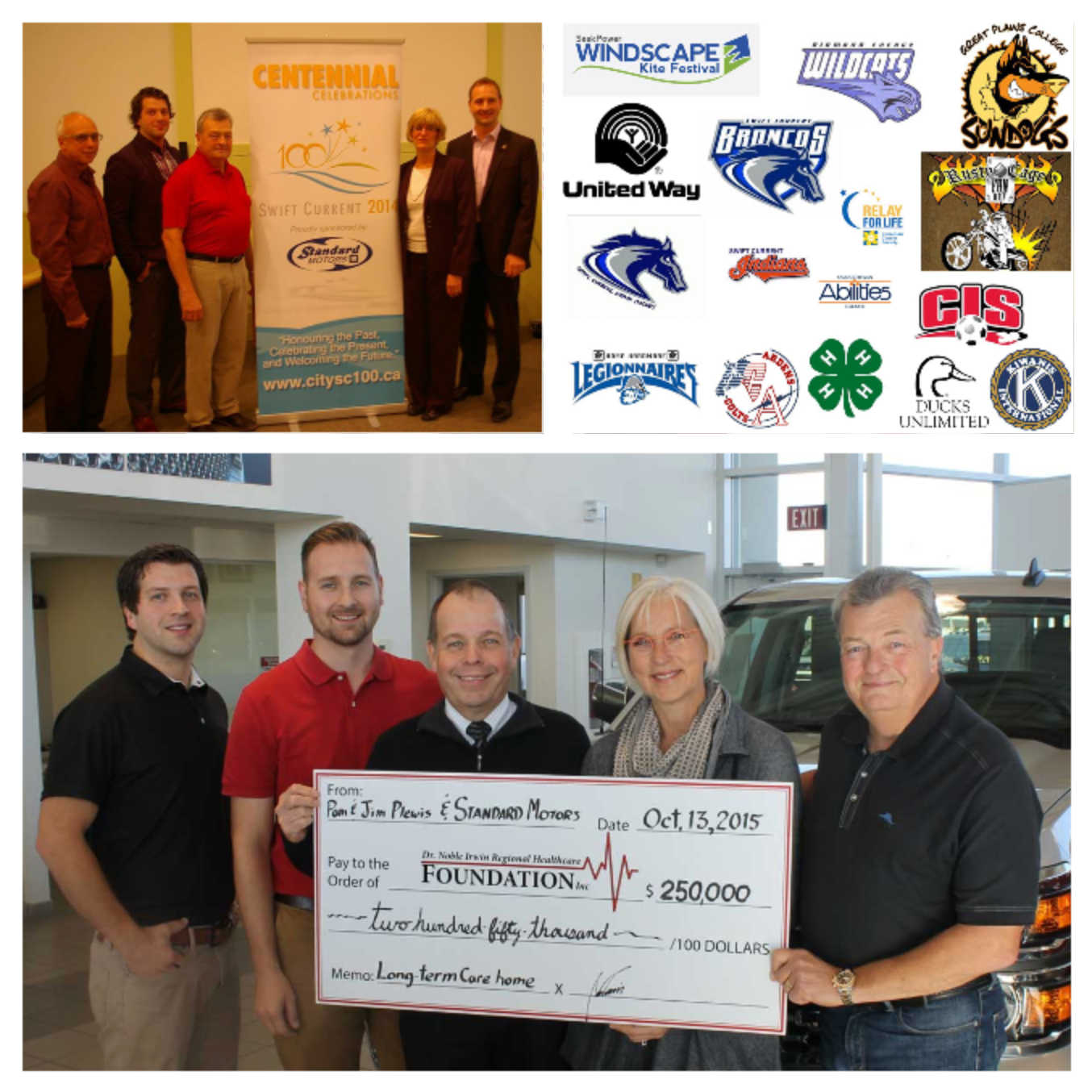 Collage of Charity work and logos