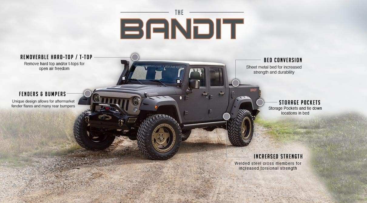 Jeep Wrangler Bandit Custom Conversion Starwood Motors