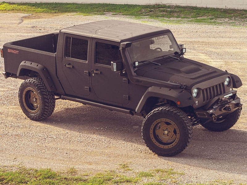 Jeep With Truck Bed >> Jeep Wrangler Bandit Custom Conversion Starwood Motors