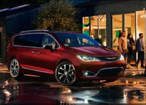 Chrysler Pacifica in Velvet Red Pearl