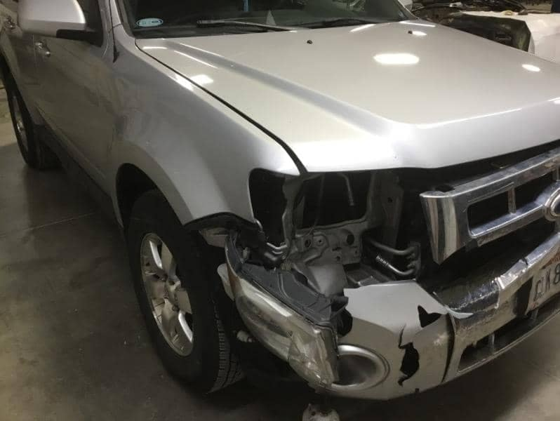 Silver SUV before picture