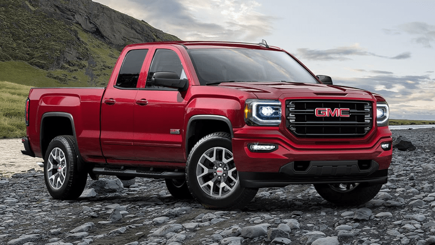 red GMC Truck