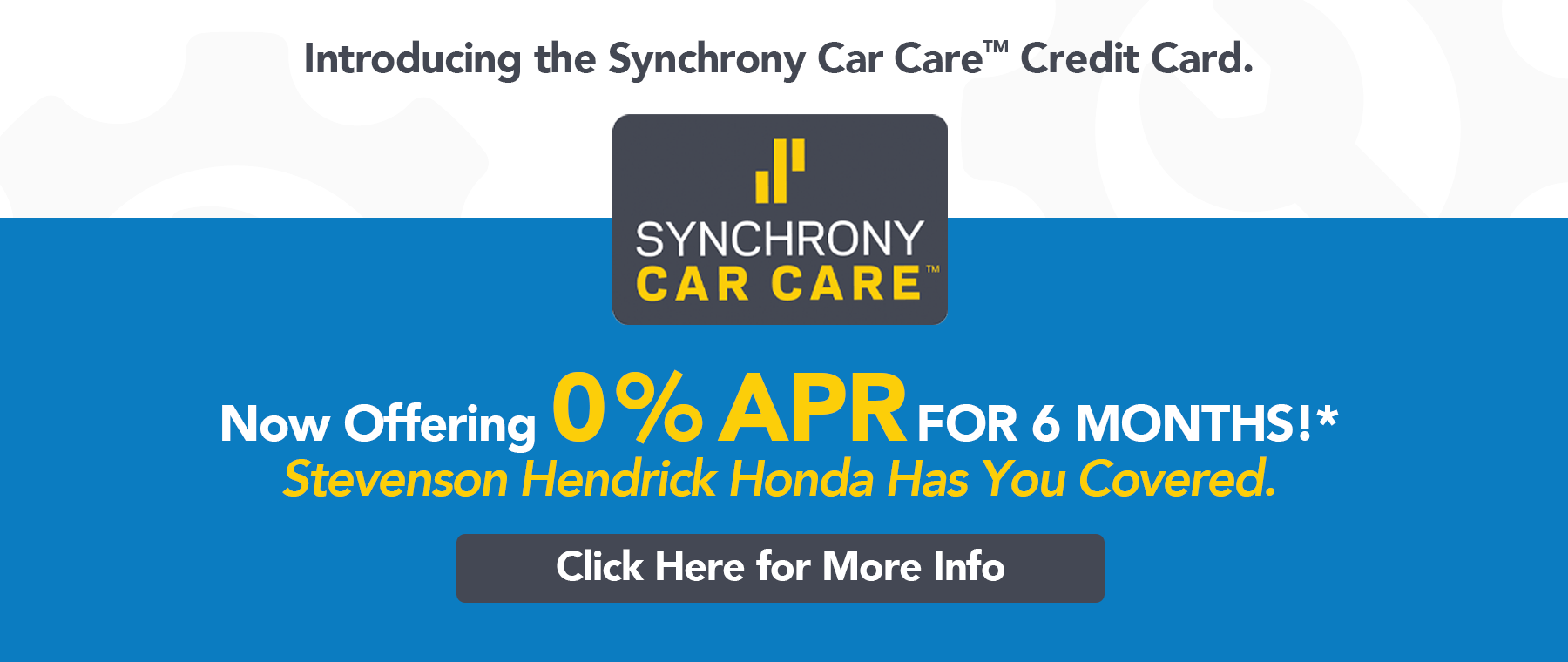 Synchrony Car Care Credit Card promotion