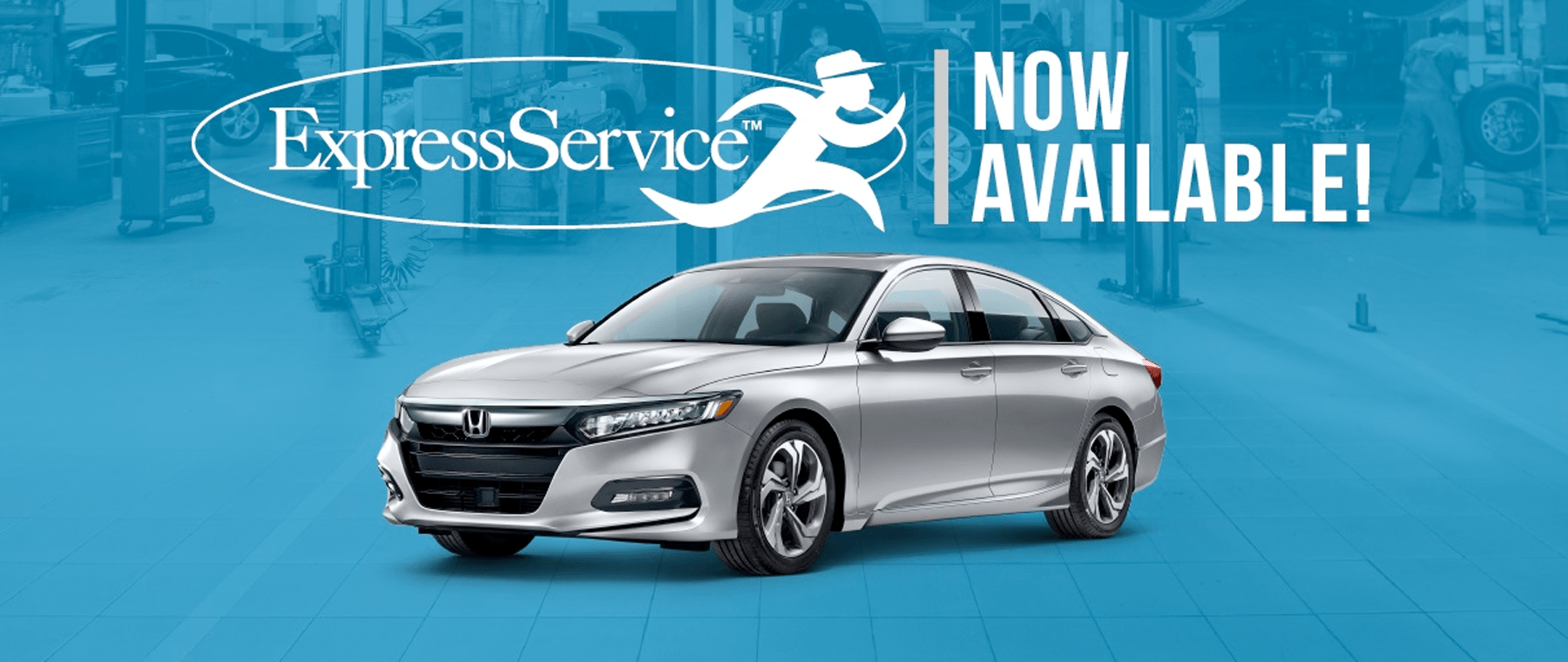 Express Service banner with silver Honda highlighted