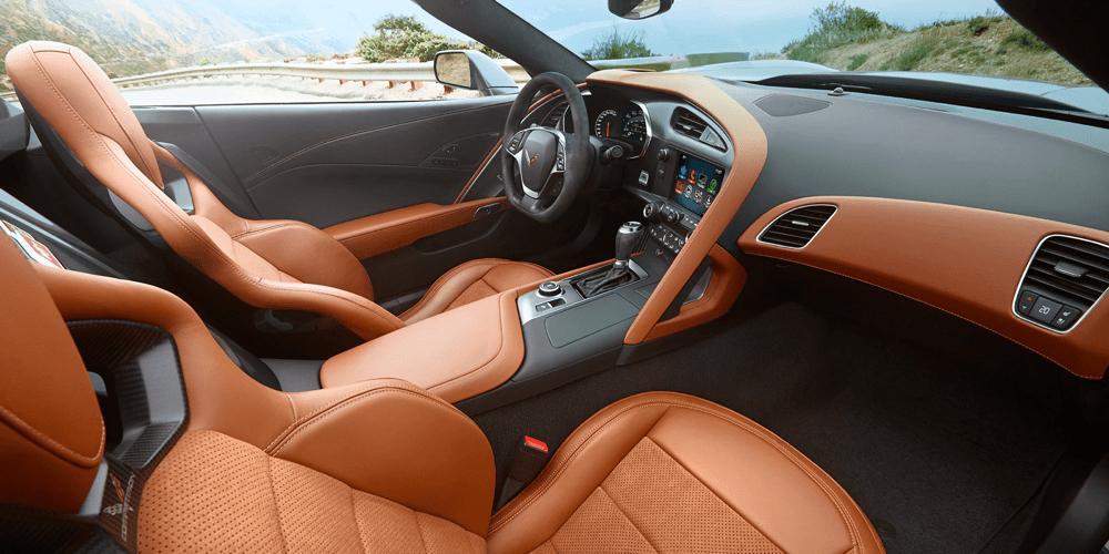 brown Corvette seats