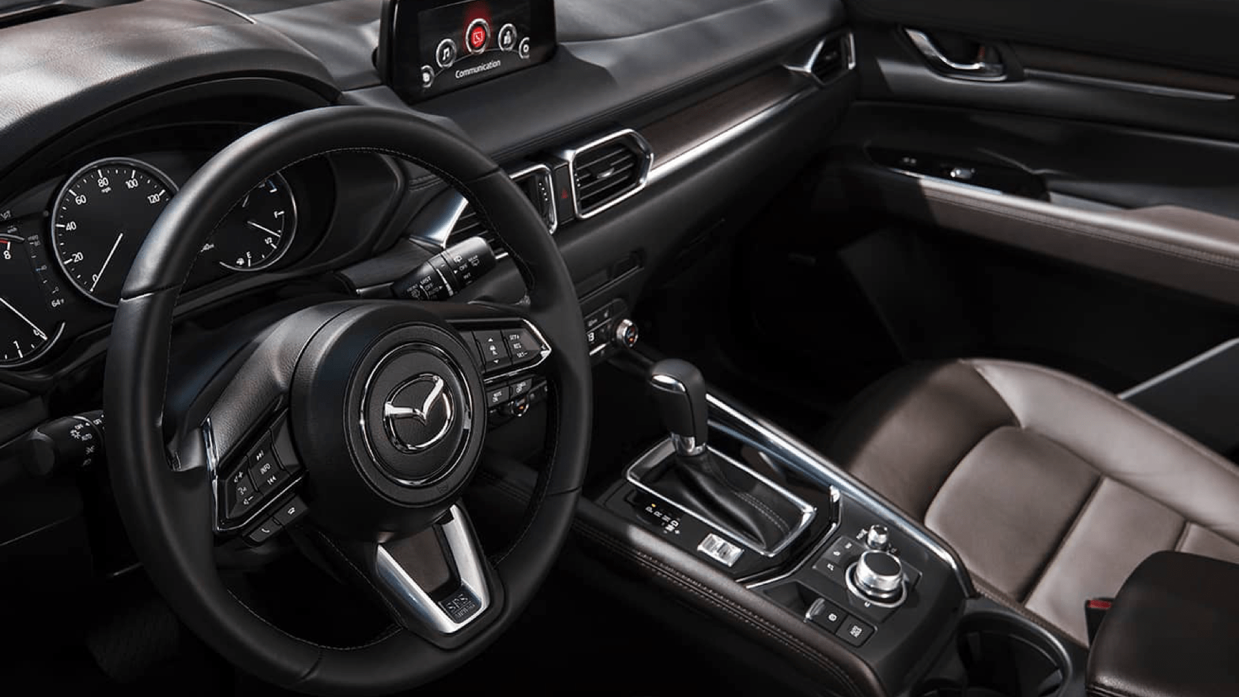 interior view of steering wheel Mazda CX-5