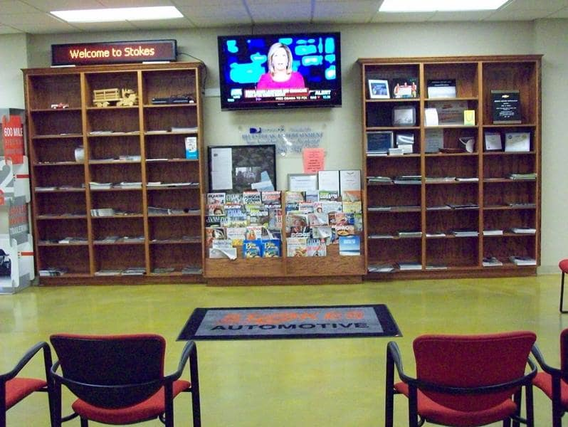 TV in waiting room