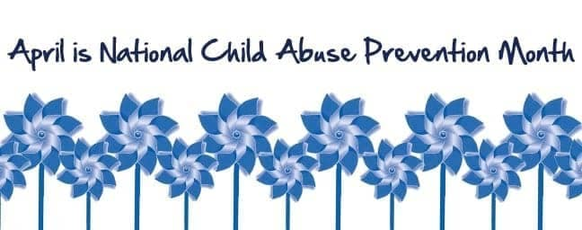 banner for April is National Child Abuse Prevention Month