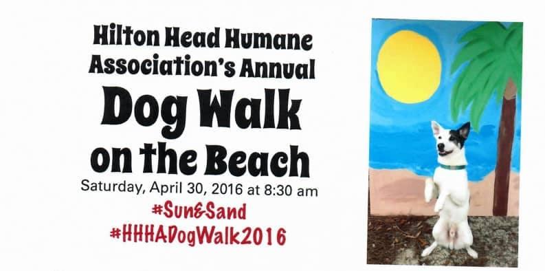 banner of Hilton Head Humane Association's Annual Dog Walk on the Beach