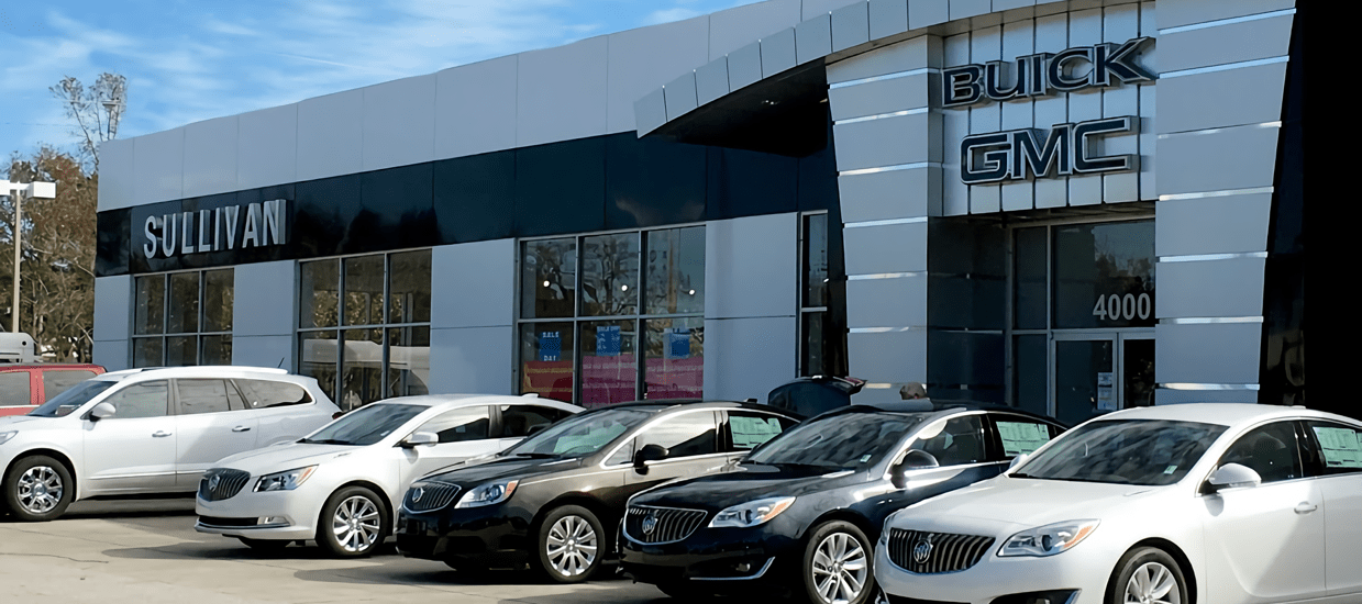 An exterior shot of a Buick GMC dealership.