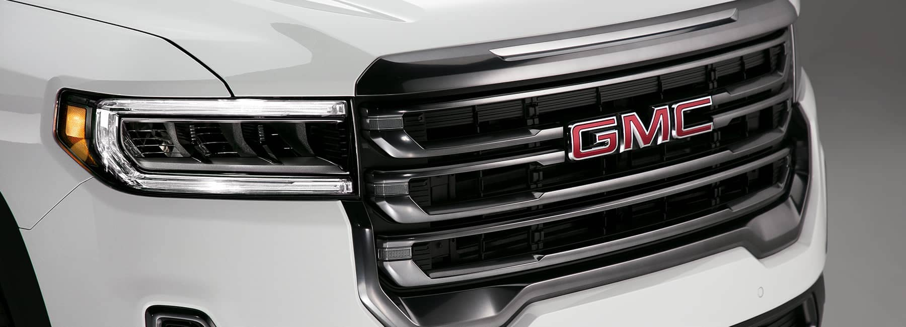 White 2020 GMC Acadia Front Grille