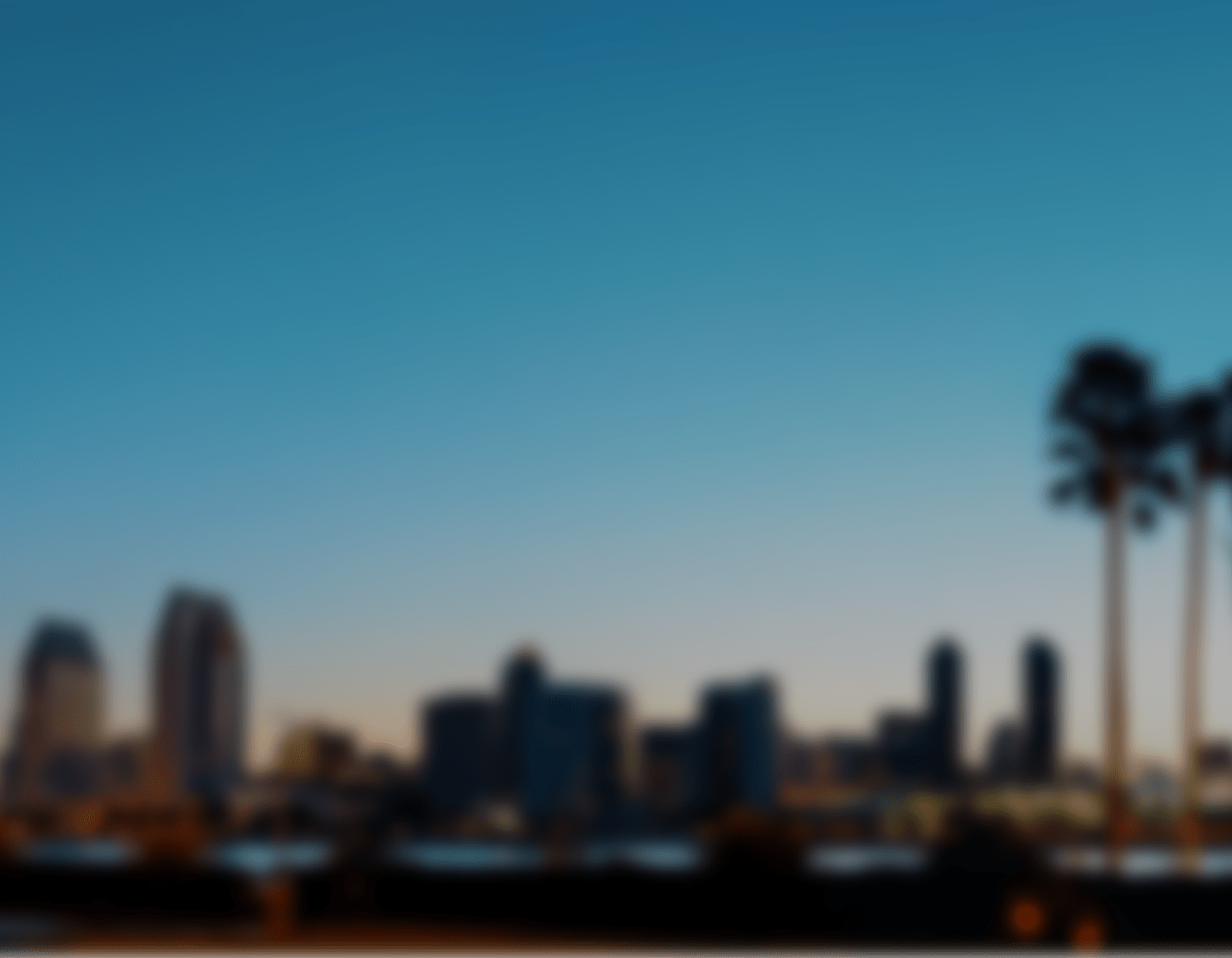 Out of focus photo of a city skyline