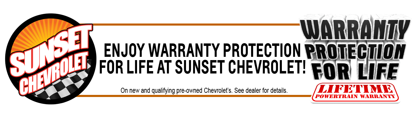 Warranty for life banner