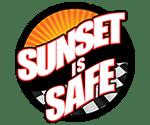 Sunset Is Safe Logo