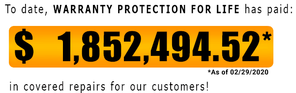 Warranty Protection For Life Pay out Counter