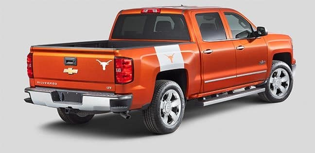 orange Chevy Silverado texas longhorn edition