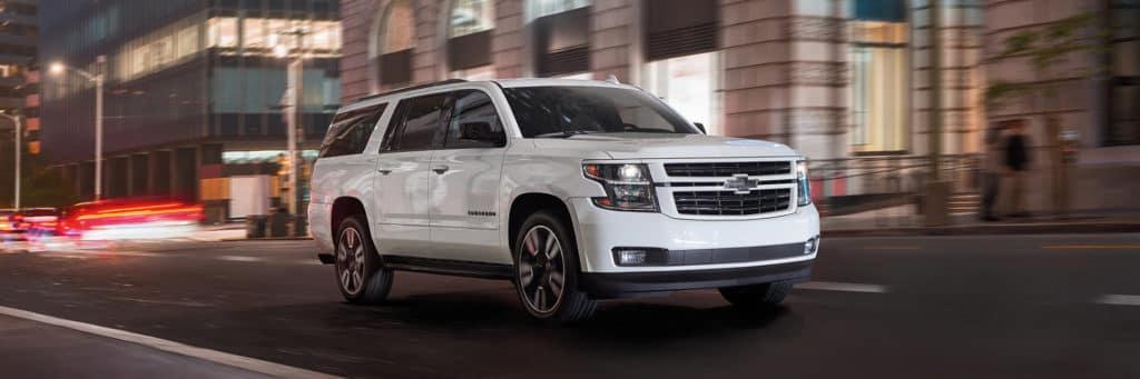 white Chevrolet suburban