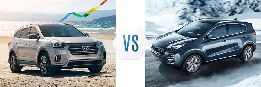 2018-Hyundai-Santa-Fe-vs-Kia-Sportage