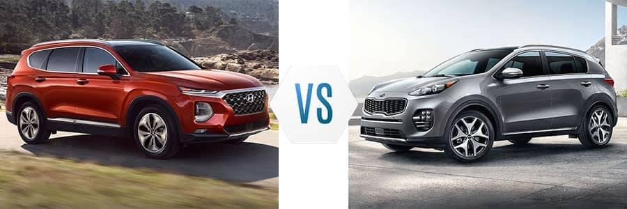 2019-Hyundai-Santa-Fe-vs-Kia-Sportage